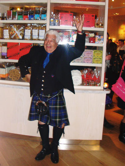 Caruccio strikes a highland pose in his Italian National Tartan kilt