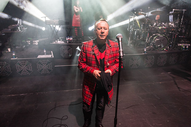 Milan Club Scozia tartan jacket from the clan Italia Collection made for Jim Kerr of Simple Minds for their tour