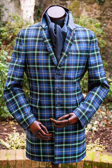 Clan Italia Collection Italian National Tartan jacket made for Jim Kerr of Simple Minds